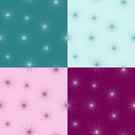 Seamless pattern with small fluff  Painted in 4 different ways  No mesh, gradient, transparency used  Objects grouped and named in English Stock Vector - 15800976