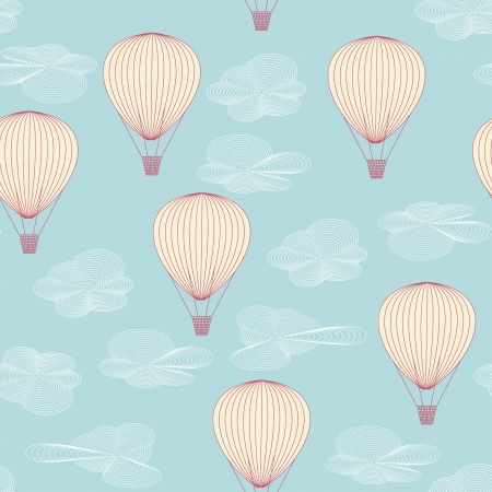 Seamless pattern made of balloons flying in the summer sky Stock Vector - 15828059