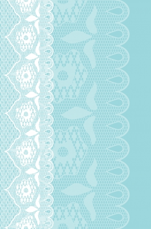 Blue background with seamless white lace border, Objects grouped and named in English. No mesh, gradient, transparency used. Stock Vector - 16172062