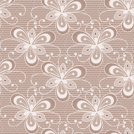 Seamless floral lacy background  Objects grouped and named in English  No mesh, gradient, transparency used Stock Vector - 16325659