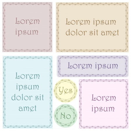 Set of vector labels  No mesh, gradient, transparency used  Objects grouped and named in English Stock Vector - 16433460