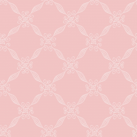White lace net pattern on pink background. Objects grouped and named in English. No mesh, gradient, transparency used.  Illustration