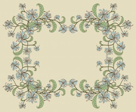 golden daisy: Objetos decorativos florales marco agrupados y nombrados en Ingl�s No malla, gradiente, transparencia utilizada Vectores