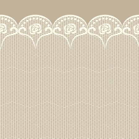 beige stof: Naadloze kanten grens objecten gegroepeerd en benoemd in het Engels Geen mesh, gradiënt, transparantie gebruikt