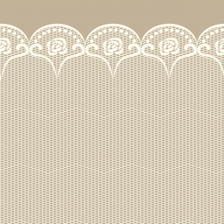 retro lace: Seamless lacy border  Objects grouped and named in English  No mesh, gradient, transparency used