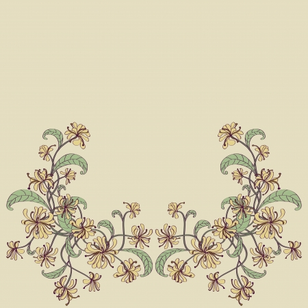 golden daisy: Decorative floral frame  Objects grouped and named in English  No mesh, gradient, transparency used   Illustration