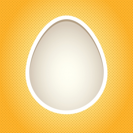 Yellow egg frame  Objects grouped and named in English  No mesh, transparency used  Gradient used Stock Vector - 17264713
