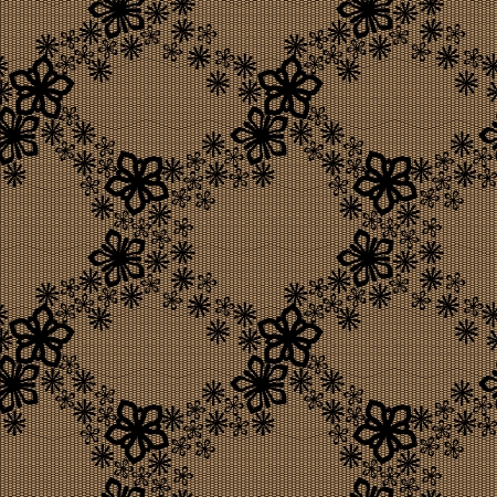 Seamless floral lace pattern  No mesh, gradient, transparency used  Objects grouped and named in English Stock Vector - 17343297
