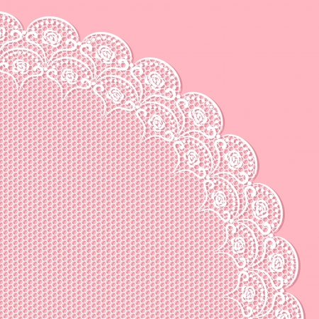 Decorative lacy corner. No mesh, gradient, transparency used. Objects grouped and named in English.