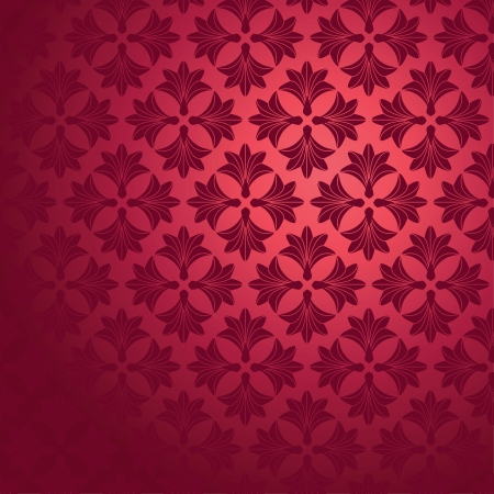 Seamless floral background. Objects grouped and named in English. No mesh, gradient, transparency used.  Vector