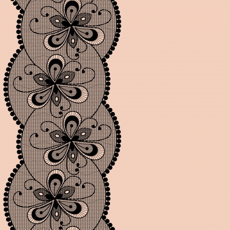 Seamless floral lacy strip.