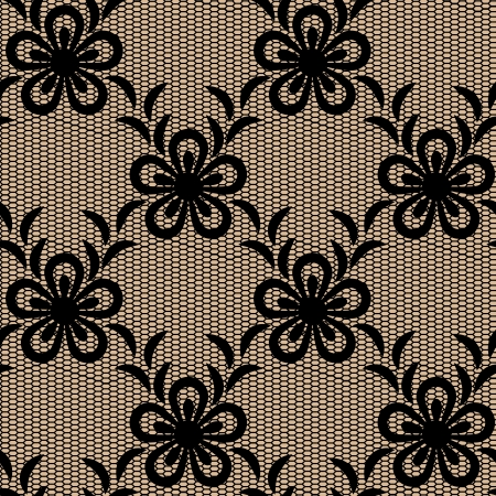 Seamless lacy pattern. Objects grouped and named in English. No mesh, gradient, transparency used.