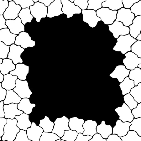 punched through: Frame template with cracks  Objects grouped and named in English  No mesh, gradient, transparency used