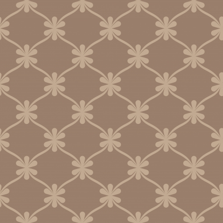 Seamless brown retro wallpaper background  Stock Vector - 18199860