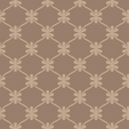 Seamless brown retro wallpaper background Stock Vector - 18199860