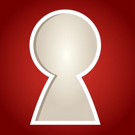 key hole: Paper cut frame stylized as key hole
