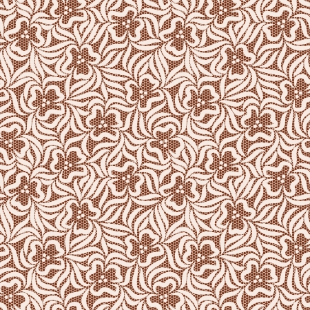 Beige and brown lacy flower seamless background Stock Vector - 18263100