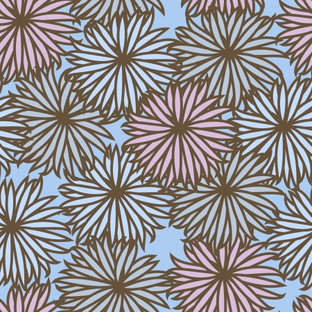 Seamless background with flowers   Illustration