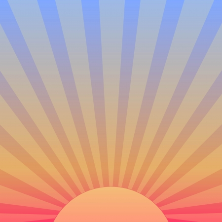 Vector background with sunrise.
