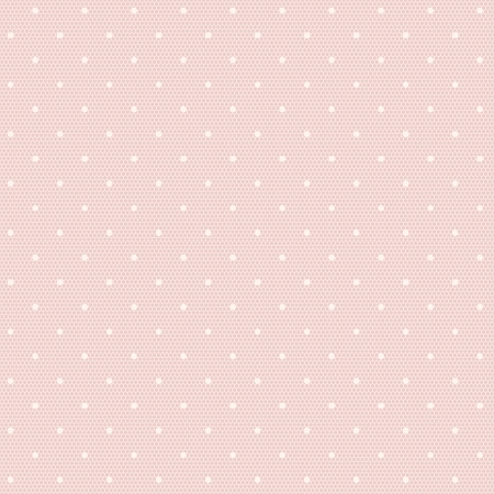 Pink lacy seamless pattern with polka dots