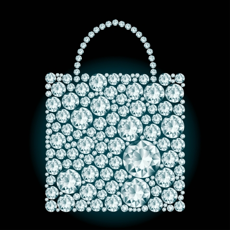 Shopping bag made of diamonds