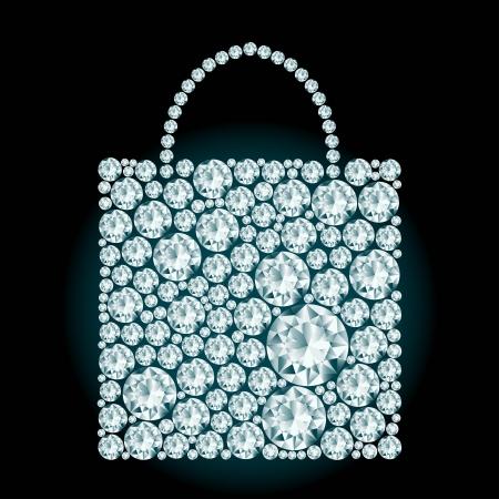 Shopping bag made of diamonds