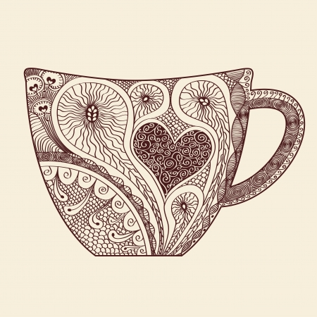 patterned: Patterned cup drawing