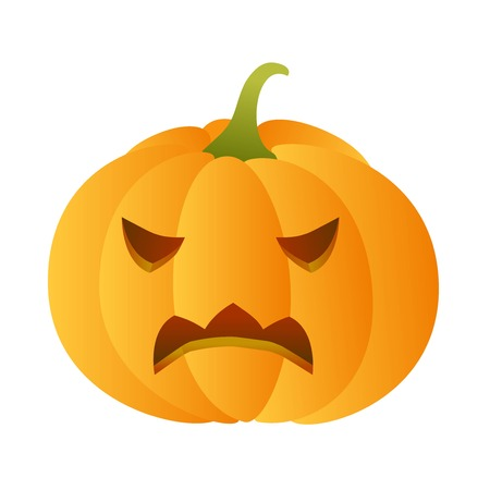 carved pumpkin: Angry carved pumpkin
