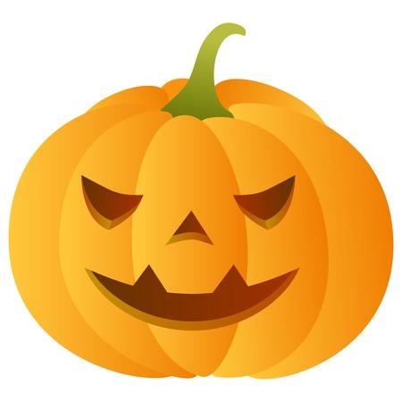 carved pumpkin: Smiling carved pumpkin Illustration