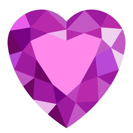 Pink gemstone heart