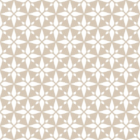 White seamless abstract rhombus lace pattern.  Illustration
