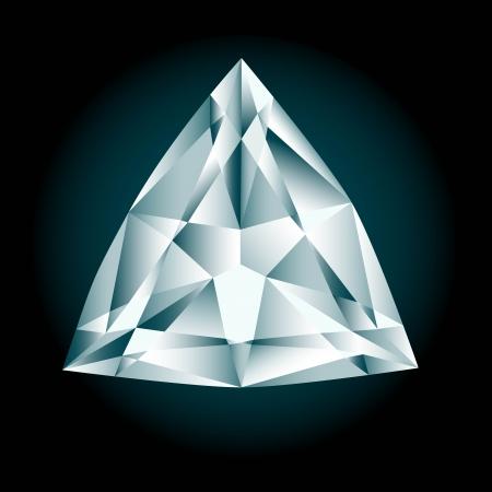 Diamond cut trilliant