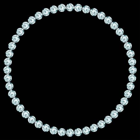 Round frame made of diamonds   Illustration