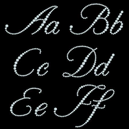 Diamond letters  Alphabet available in portfolio