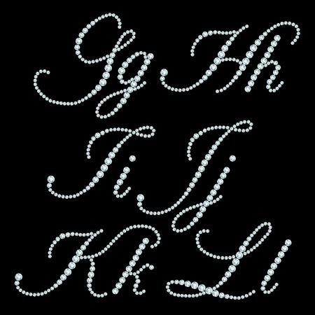 diamond letters: Diamond letters  Alphabet available in portfolio