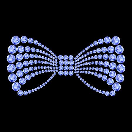 Blue gemstone bow composition