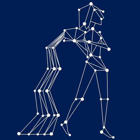 prognoses: Aquarius zodiac sign. All signs illustration available in portfolio.
