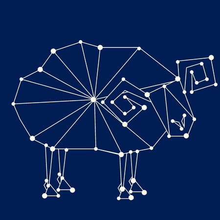 prognoses: Aries zodiac sign.  Illustration