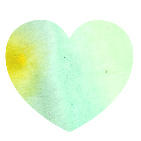 ombre: Watercolor heart on white background Illustration