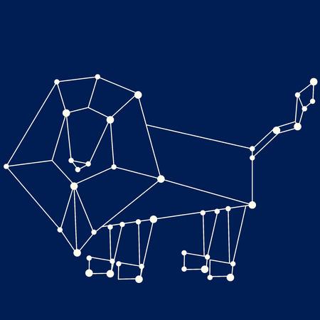prognoses: Leo zodiac sign. Illustration