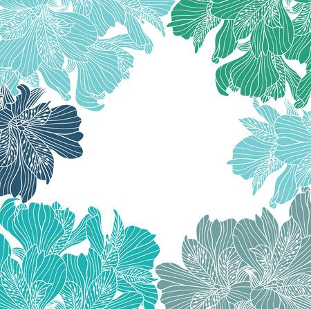 Alstroemeria flower frame Illustration