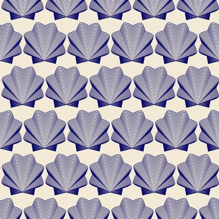Seamless shells background
