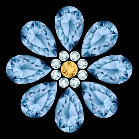 rhinestone: Flower gemstone composition