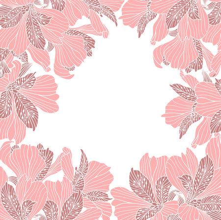 alstroemeria: Alstroemeria flower frame Illustration