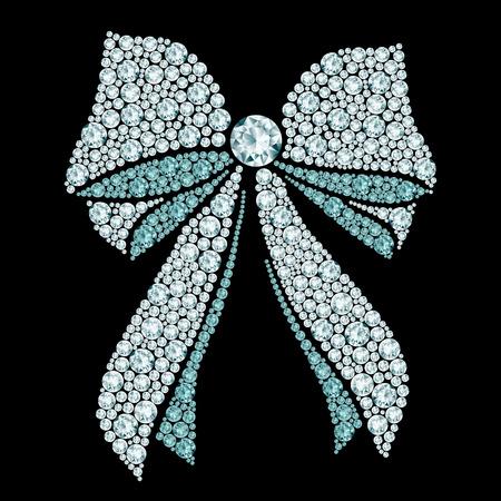 rhinestone: Diamond bow composition