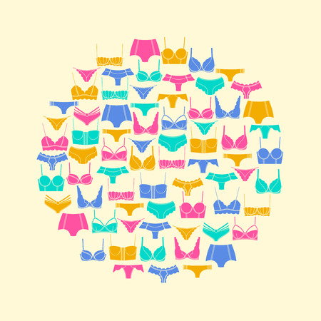 Round composition of lingerie elements