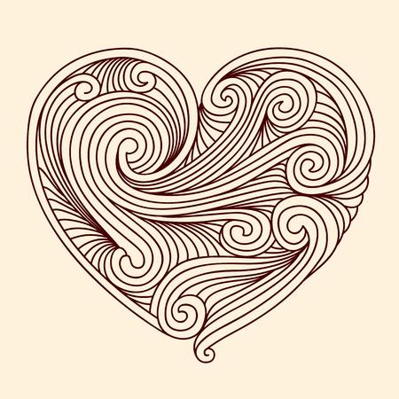 Decorative retro heart