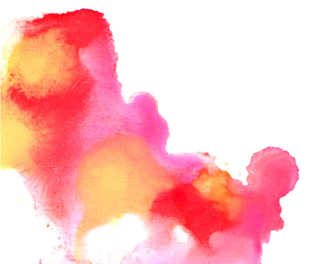 blot: Pink and yellow blurred paint blot Illustration