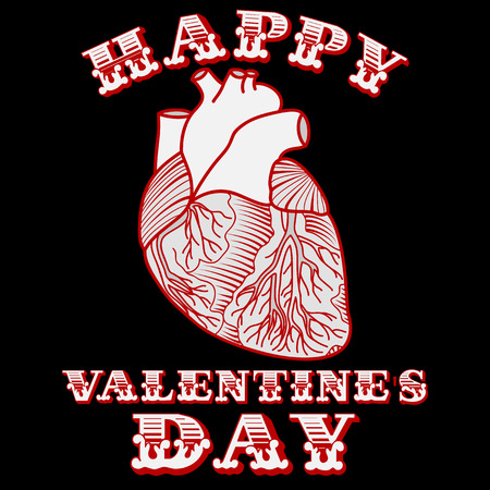sarcastic: Sarcastic Valentine card with anatomic heart
