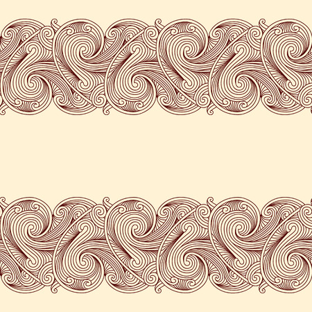 beige background: Beige background with two horizontal seamless borders